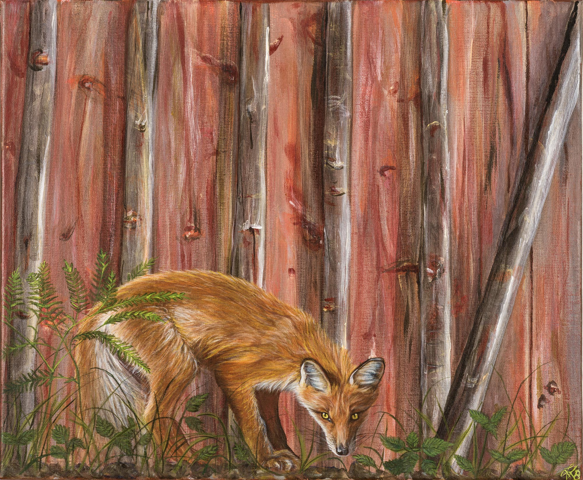 Lurking fox